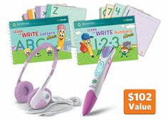 LeapReader Writing and Math Bundle Purple #LeapFrogWishList