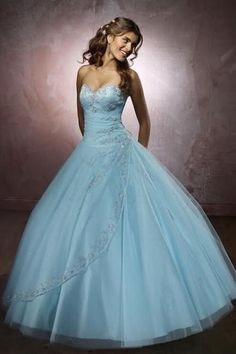 Fashion Pink/Blue Wedding Dress Ball Gown Bridal Gowns