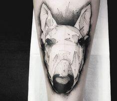 Bullterrier tattoo by Dener Silva