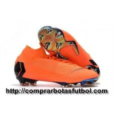 aeb1472c8 Botas De Futbol Nike Mercurial Superfly VI 360 Elite FG Naranja Negro  Naranja Amarillo Volt Kids