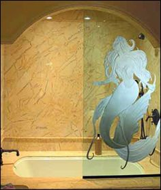 custom decorative glass for bath and shower doors