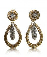 Francoise Montague Gold and Silver Lolita Clip Earrings