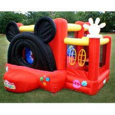 Disney's Mickey Mouse Clubhouse Inflatable Bouncer and Slide | MonsterMarketplace.com