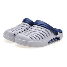 Sale 17% (9.99$) - Mens Air Cushion Slippers Antiskid Garden Hole Shoes