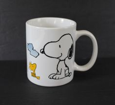 Woodstock Snoopy Mug Ceramic Coffee Cup Schulz UFS White M Ware Peanuts