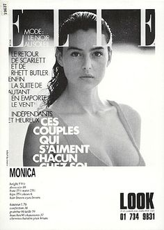 The Model Archives of Marlowe Press Look (London) 1988 Monica Bellucci