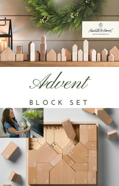 Simple and elegant advent block set from Hearth & Hand by Magnolia. Love that the kids can play with this year round! #hearthandhand #joannagaines #fixerupper #target #farmhousedecor #farmhousechristmas #affiliate