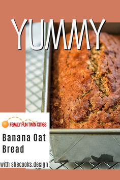 This healthy banana oat bread recipe could make a perfectly not-too-sweet afternoon snack or quick choice for breakfast. Thank you SheCooks. Banana Oat Bread, Healthy Banana Bread, Banana Oats, Banana Bread Recipes, Family Recipes, Family Meals, Easy Snacks, Healthy Snacks, Oat Bread Recipe