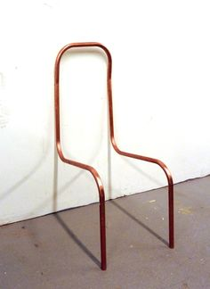 shapesarchive:  Copper Tube Chair Study  Inspiration - structure - copper