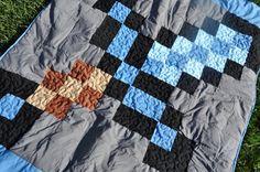 Minecraft Sword Gamer Blanket Quilt by littleashleighs on Etsy, $80.00
