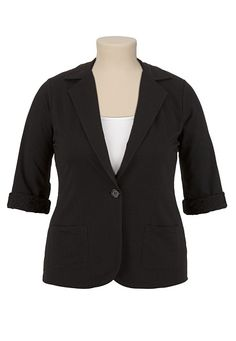 Lace Back Blazer available at #Maurices