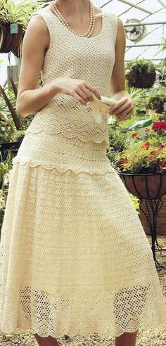 Elegant 2Piece Crocheted Lace Flowing Skirt by HeirloomsbyAntonia, $495.00  Less than $500.00 - a bit much for a Gift!