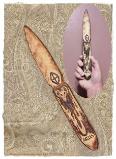 Athame Wiccan Witch Pagan Aries Zodiac OOAK All by thespelllingbee