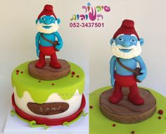 smurf cake by cakes-mania  עוגת דרדס מאת שיגעון העוגות - www.cakes-mania.com