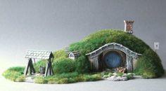 Hobbit hole miniature