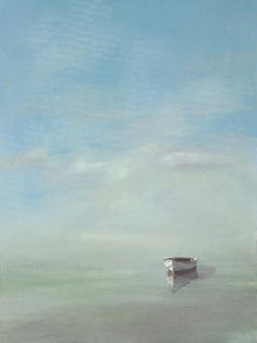 White Dory by Anne Packard. Seascape Paintings, Landscape Paintings, Abstract Landscape, Abstract Art, Nautical Art, Art And Architecture, Painting Inspiration, Watercolor Paintings, Fine Art