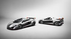 Duas criações perfeitamente únicas, mas quase idênticas, na forma de um coupé e de um roadster criados à medida pela divisão de personalização da McLaren
