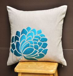 Blue Caroline Throw Pillow Cover 18 x 18 Decorative от KainKain