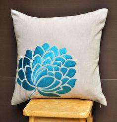 Blue Caroline Throw Pillow Cover 18 x 18 Decorative от KainKain