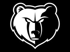 memphis grizzlies logo | Memphis Grizzlies Black & White (by chuckie1904 on…