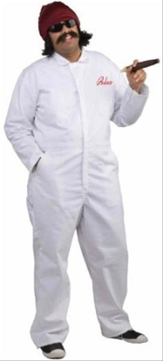 Cheech and Chong's Up in Smoke Movers Suit - Everyone's favorite stoners, Cheech and Chong, may not make the best movers, but they certainly make the funniest ones. With this Cheech's movers suit from Up In Smoke, you can strike a pose and let everyone know just how chill you are. It's comfortable enough to wear all day, and it's easily recognizable by any fan of the infamous comedy duo. #cheech #chong #yyc #costume #entertainer