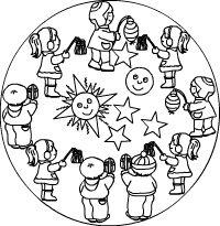 Laternen Mandala (from Kidsweb.de)