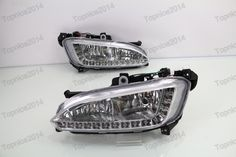 169.99$  Watch now - http://ali2di.worldwells.pw/go.php?t=32744787438 - 1Pair White LED Daytime Running Lights Driving Fog Lamps DRL For Hyundai Santa Fe/IX45 2013-2015 169.99$