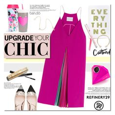 """""""These are a few of my favorite things.. (Upgrade Your Chic With Refinery29)"""" by purpleagony ❤ liked on Polyvore featuring Mary Katrantzou, Miu Miu, ban.do, Smashbox, women's clothing, women, female, woman, misses and juniors"""