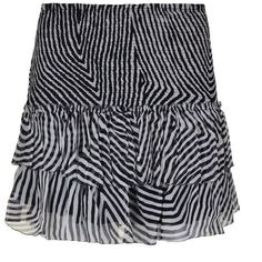 Isabel Marant Etoile Striped Mini Skirt (€140) ❤ liked on Polyvore featuring skirts, mini skirts, silk skirt, striped skirt, striped mini skirt, stripe skirt and short mini skirts