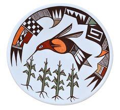 Carolyn Concho | Aomca Pueblo Plate or Bowl | Penfield Gallery of Indian Arts | Albuquerque, New Mexico