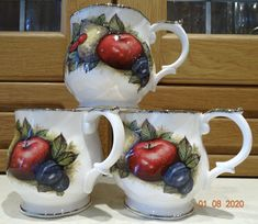 VINTAGE Queen's CHURCHILL Fine Bone China Cups Antique Fruit Collectible – British & Far East Traders Lifestyle & Shopping Blog Coffee Cups, Tea Cups, Beautiful Fruits, Lifestyle Shop, Churchill, Bone China, Fruit Salad, British, Queen