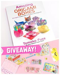 'Amazing origami boxes' by Tomoko Fuse and a Blippo surprise stationery bag up for grabs! Origami Gift Box, Cute Origami, Origami Ball, Origami Bookmark, Useful Origami, Origami Stars, Origami Instructions, Origami Tutorial, Origami Tower