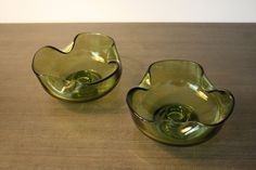 Vintage Anchor Hocking  Avocado Green Glass Bowl by Retrothrift305