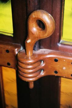 Wooden Latch from a Tour of Sam Maloof's Shop
