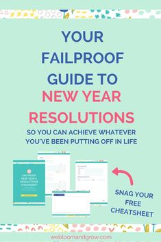 Your failproof guide to new year resolutions, so you can achieve whatever you've been putting off in life. Free failproof new year resolutions cheatsheet Business Branding, Business Marketing, Online Business, How To Start A Blog, How To Make Money, Management Tips, Business Management, Work From Home Tips, Creative Business