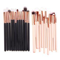 12 Stks Rose Gold multifunctionele Make Borstel Set Oogschaduw Borstels Tool ook gebruikt als wangen kaaklijn chin borstels 14.5-16 cm