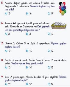 Learn Turkish, Worksheets, Preschool, Language, Teaching, Education, Math, Google, Amigurumi