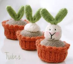 Growing Plants by Ala Ela from Twins' Knitting Pattern MiniShop.