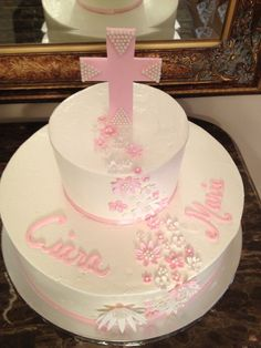 First Communion  by www.sweetaddictioncake.com