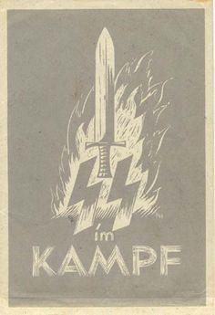 """Nazi poster, """"SS im Kampf"""""""