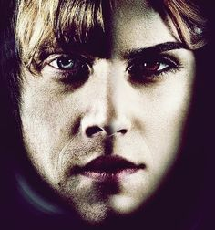 they have the same mouth. Ron And Hermione, Harry Potter 2, Halloween Face Makeup