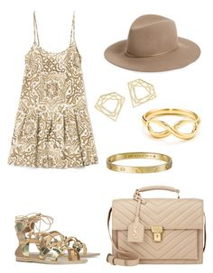 """Golden Glow"" by stephanie-rozek-paris ❤ liked on Polyvore"