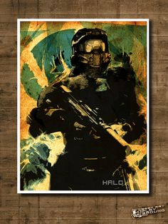 HALO Master Chief - print & Geek poster inspired by this action pack sci fi video game