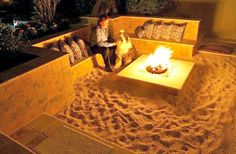 27 Things That Definitely Belong In Your Dream Home: 16. a mini-beach fire-pit