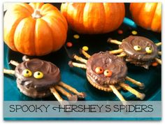 Spooky Chocolate & PB Spider Cookies - easy enough for kids to help too!