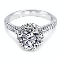 Mountz Jewelers :: Luxurious+Hand-Selected+Pave-Set+Diamonds+Maximize+The+Shine+From+The+Center+Stone.+Dual+Rows+Of+Diamonds+Along+The+Shoulders+Turn+Up+The+Heat+For+An+Opulent+Finish+On+The+Perfect+Engagement+Ring+For+The+Classic+Beauty.+Available+In+Platinum+And+18K+Gold