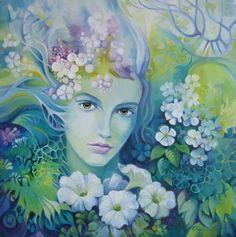 Spring Painting by Elena Oleniuc Spring Painting, Spring Art, Art And Illustration, Illustrations, Fantasy Kunst, Fantasy Art, Original Art, Original Paintings, Oil Paintings