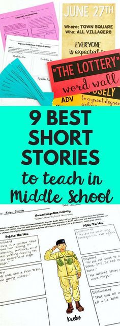 Top nine short stories to teach to and read with your middle school English language arts class They are engaging challenging and accessible to all students Definitely a. Middle School Literature, Middle School Reading, Middle School Classroom, Middle School English, English Classroom, Teaching Literature, Ela Classroom, English Teachers, Science Classroom