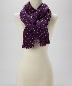 Take a look at this Purple Star Wool Scarf by Kitara on #zulily today!