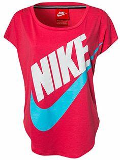 Nike Signal Tee - Nike - Geranium - T - Skjorter - Sportsklær - Kvinne - Nelly.com